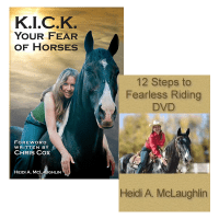 K.I.C.K. Your Fear of Horses Book & 12 Steps to Fearless Riding DVD Combo Special