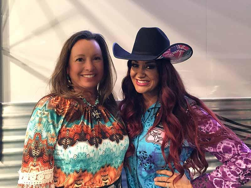 Heidi McLaughlin and Champion Barrel Racer Fallon Taylor