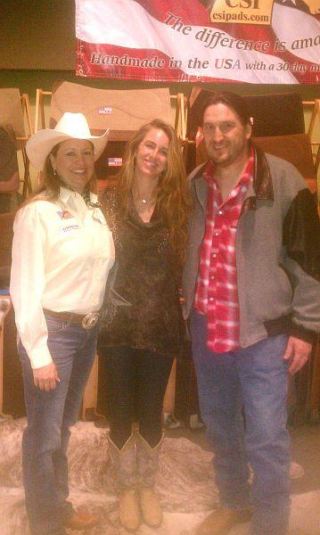 Heidi with country western singer Templeton Thompson and her musician husband Sam Gay