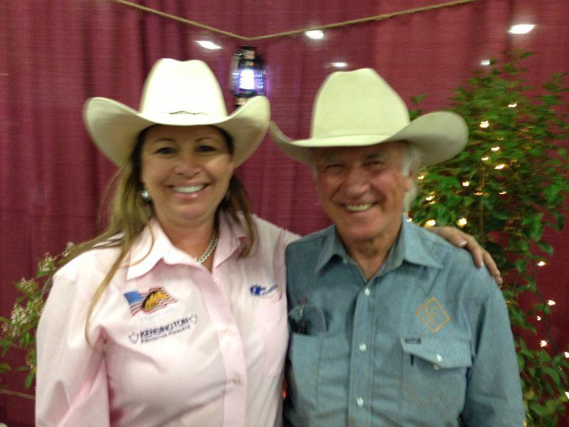 Heidi with rodeo legend Larry Mahan